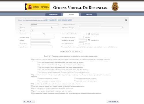 Denuncias por internet robo de DNI