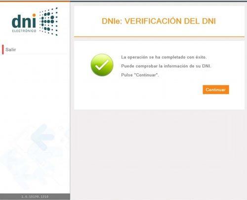 Verificación certificados del DNI